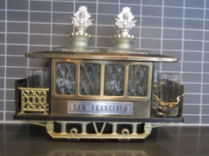 Find of the Week - Vintage Musical San Francisco Trolley Decanter Bar-ware Set (March 31, 2014)