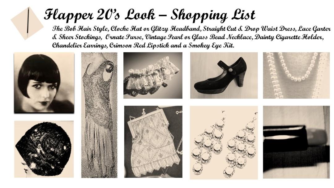 Flapper look shopping list