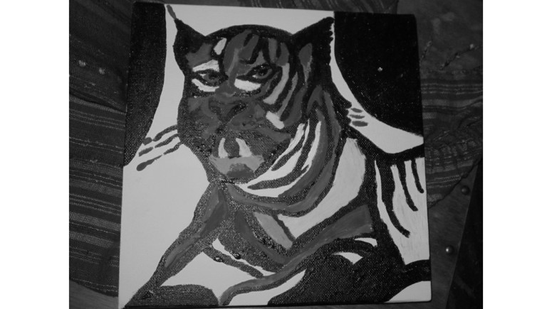 I picture of a Tiger I painted last year. I love Tigers!