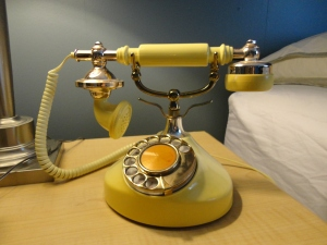 Victorian Inspired Vintage Pale Yellow Princess Phone (Rotary)