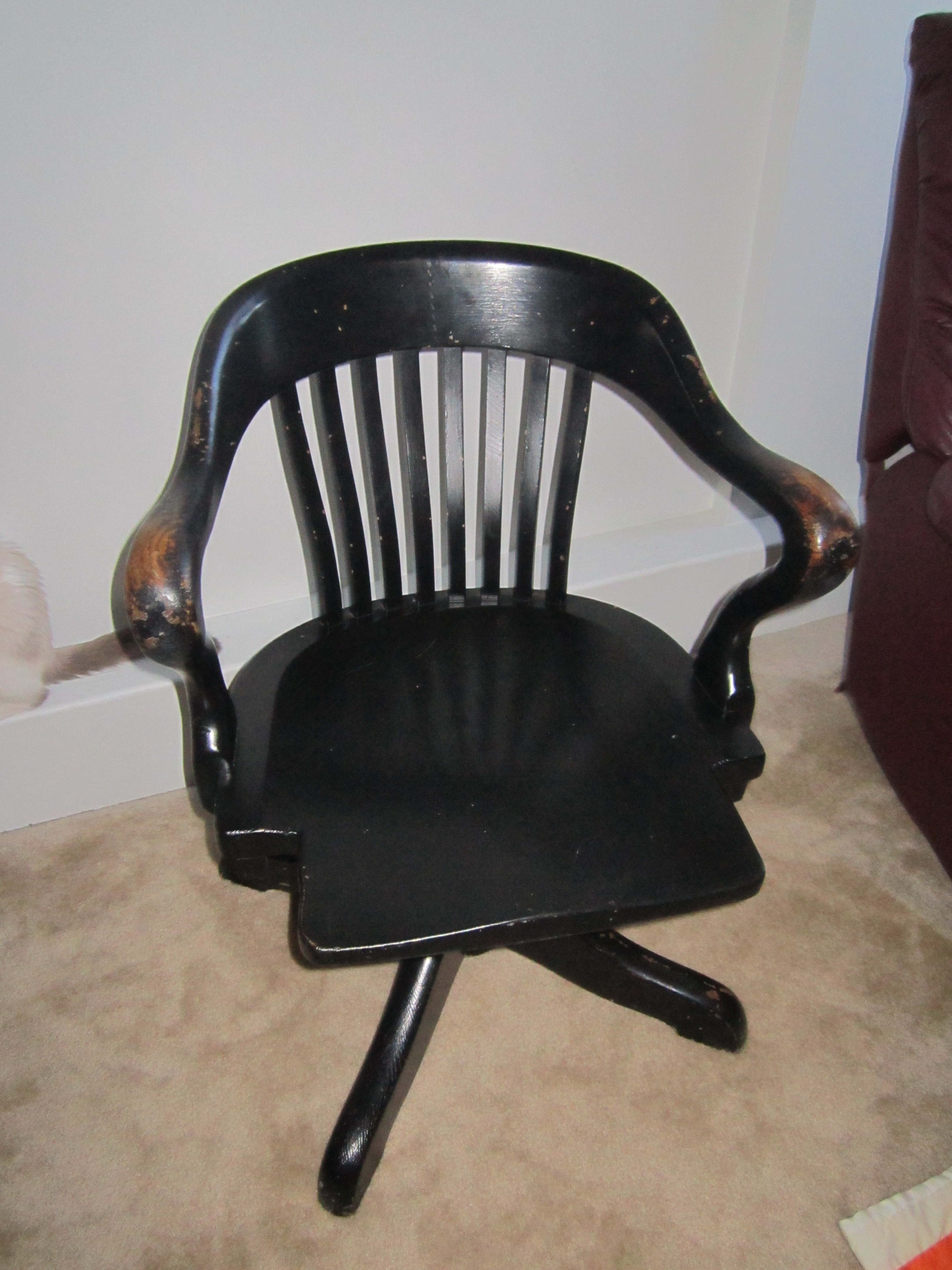 Find Of The Week Antique Desk Chair On The Side Of The