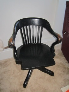 Find of the Week: Antique Desk Chair on the side of the road
